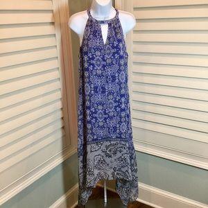 Alya Halter Sharkbite Maxi Dress, Small, EUC